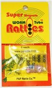 Super Magnum Worm and tube Rattles  5 pack