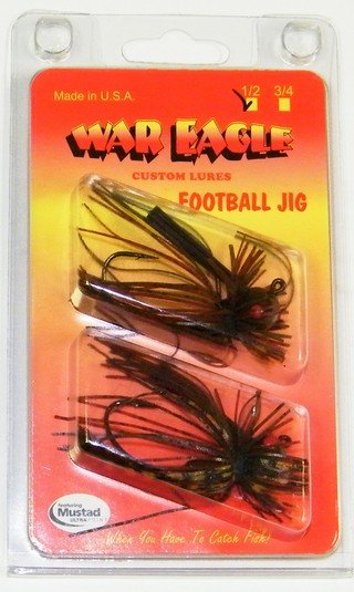 War Eagle Football Jig    2 pack