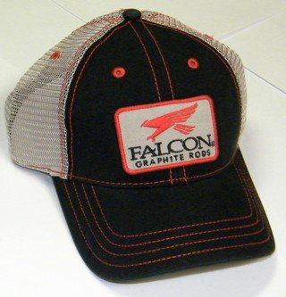 FALCON Black Trucker Cap