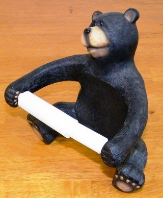 Black Bear Toilet Paper Dispenser