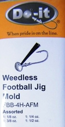 Weedless Football Jig Mold