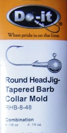 Round Head tapered Barb 1/8oz. and 1/4oz.